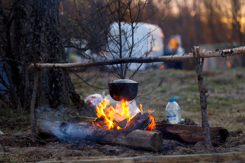 camping comida